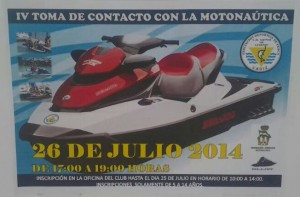 cartel iv toma de contacto conla motonautica