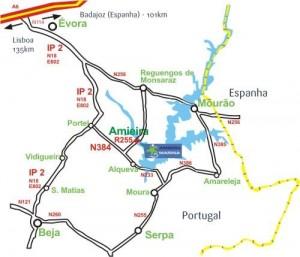 mapa amieira marina